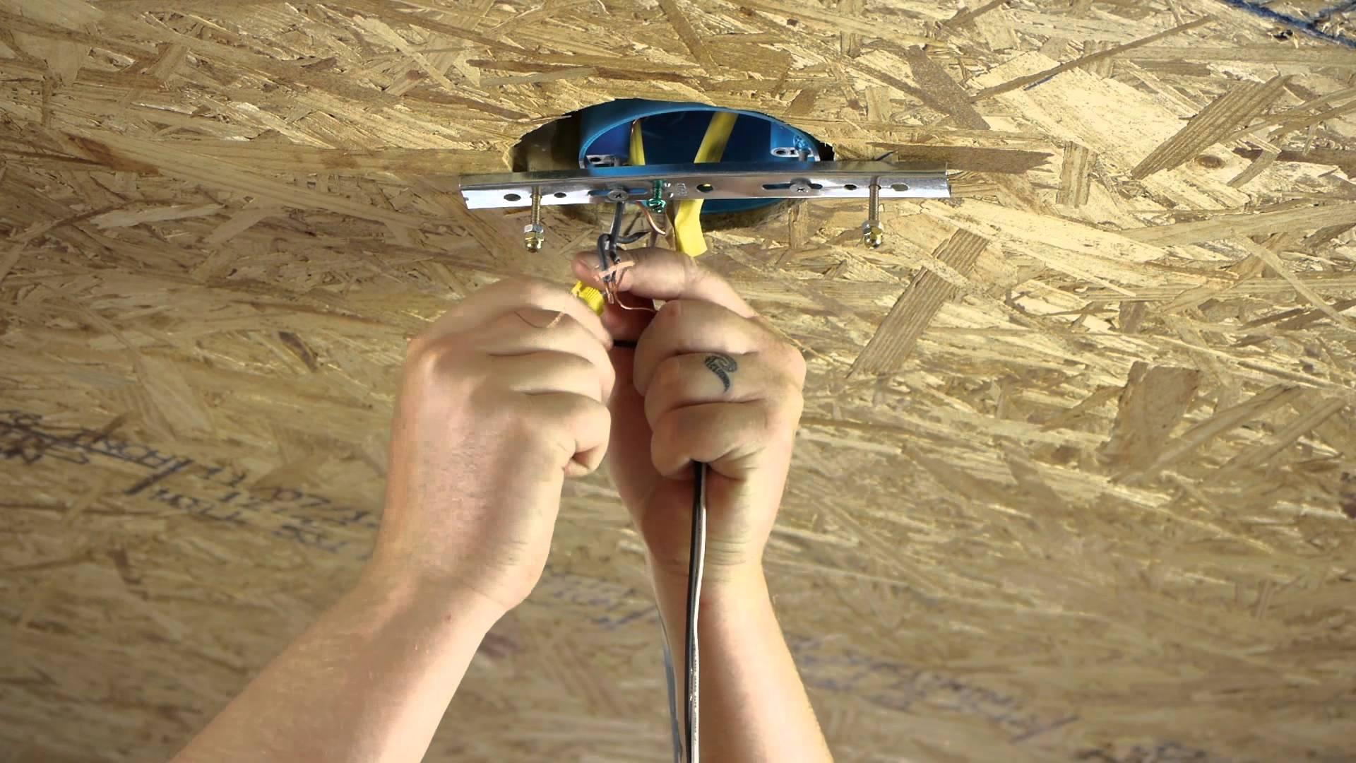 инструкция как встроить люстру в натяжной потолок