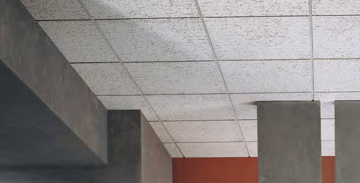 Stone ceiling tiles