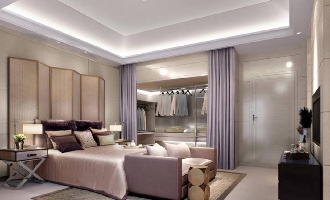 Спальня и гардеробная дизайн