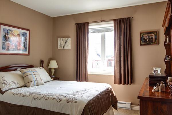 Brown beige curtains