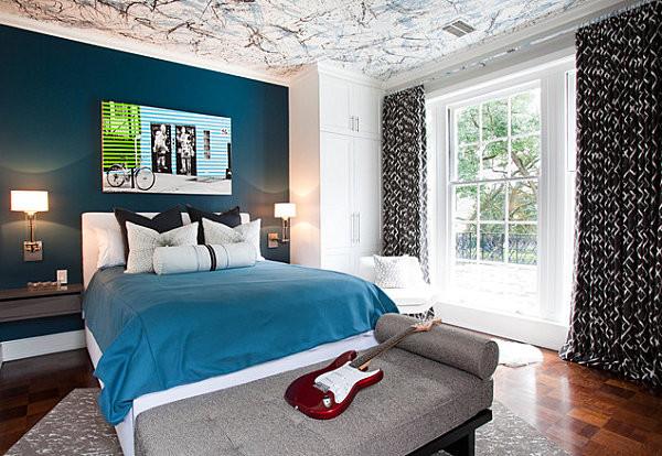 Дизайн комнаты в голубых тонах фото