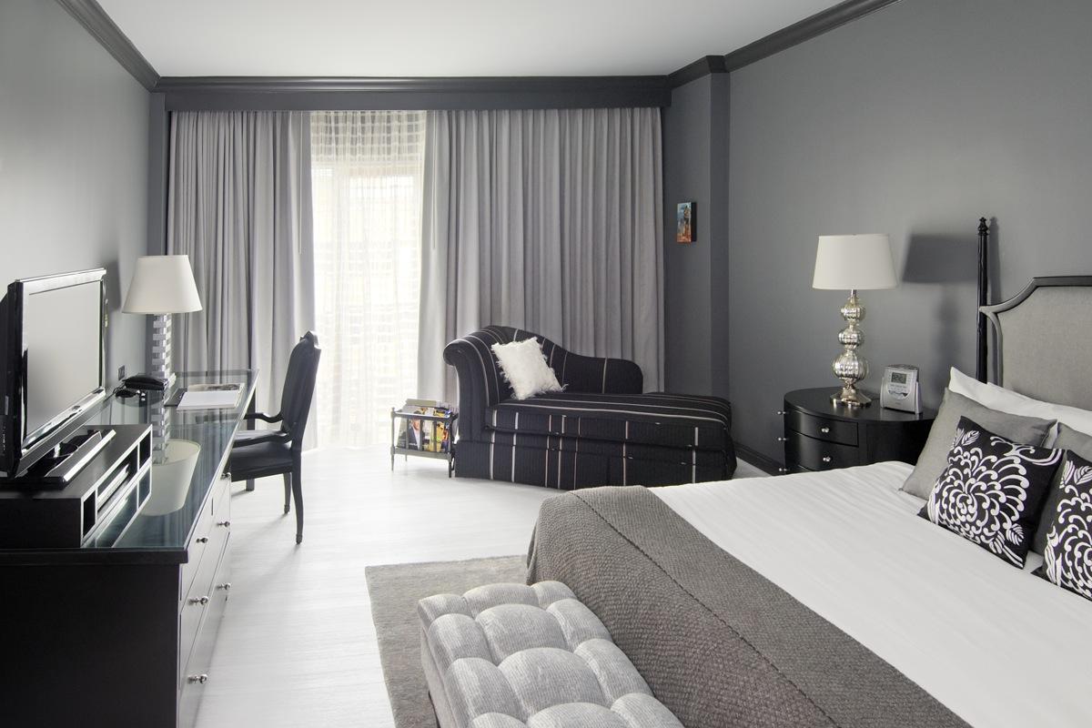 Спальня в сером цвете фото