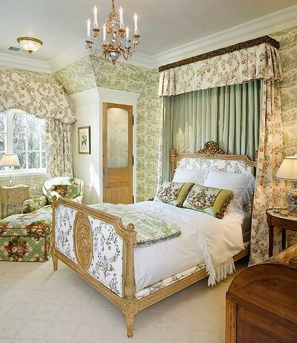 Дизайн интерьер спальни в английском стиле интерьер