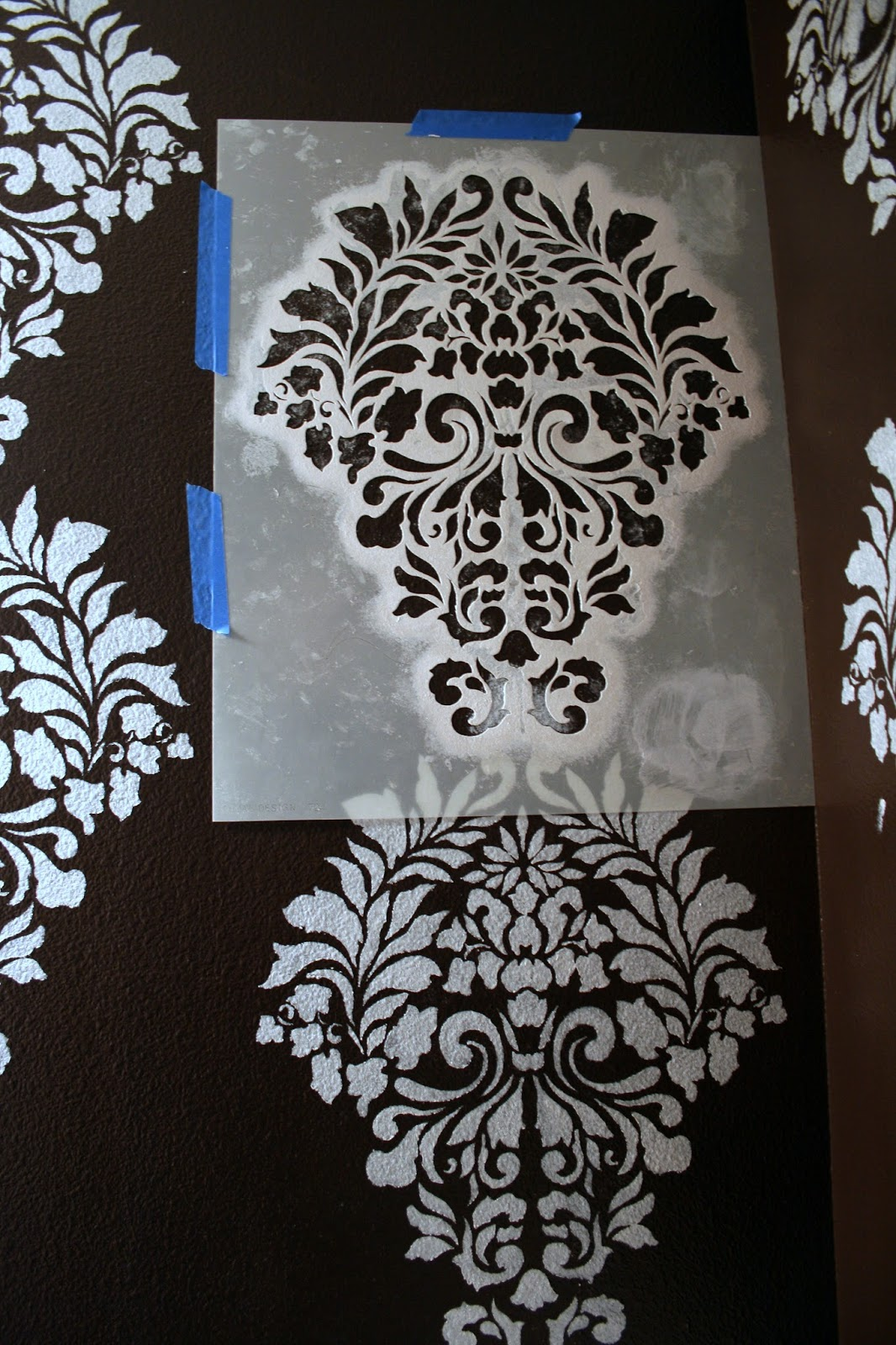Paint stencil wall designs