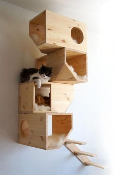 Игровой уголок для кошки своими руками